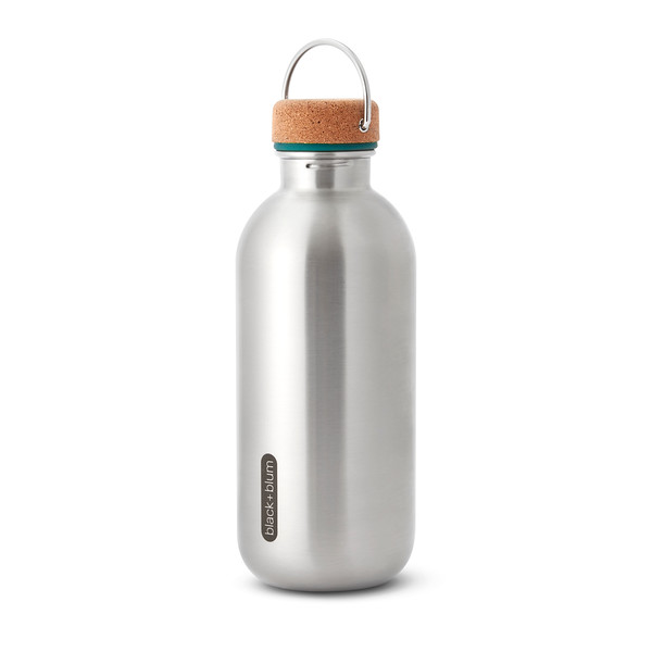 Steel Bottle ocean Black Blum