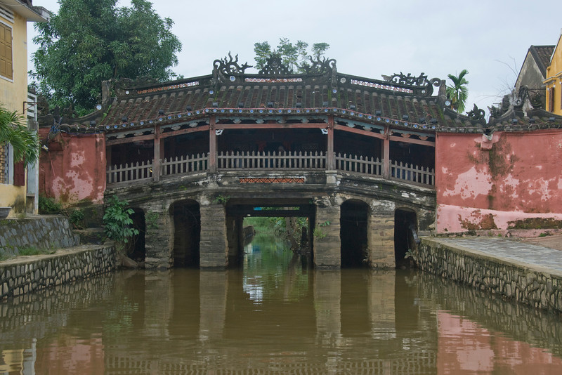 Front view of the foot bridge - Hoi An, Vietnam