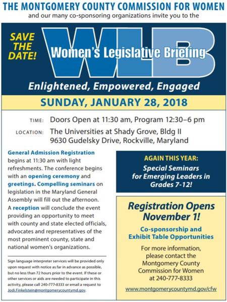 2018-01-28 Women's Legislative Briefing