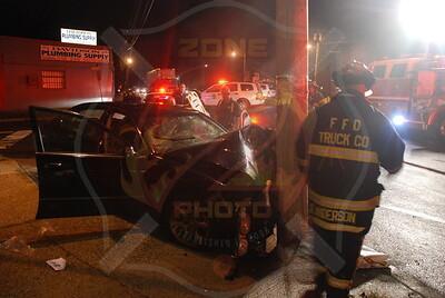 Farmingdale F.D. MVA Car vs Pole Fulton St. and Merokee Pl. 8/18/09