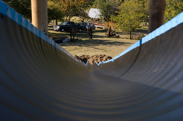 slide down the chute
