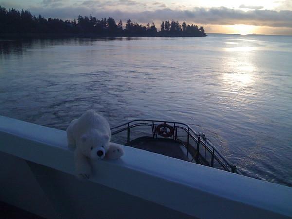 polar bar on side of boat