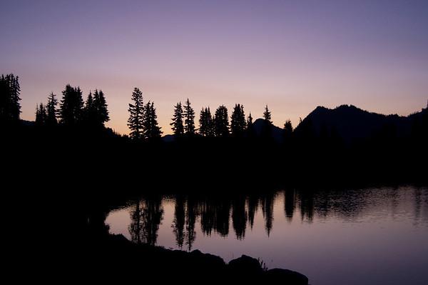 sunrise at Lunch Lake