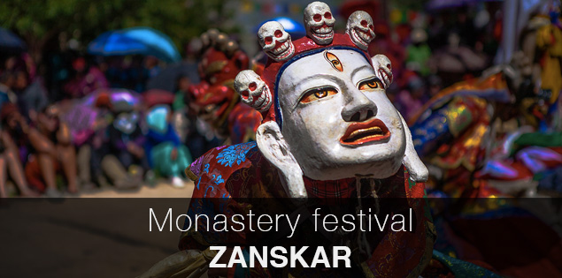 Monastery festival in Sani, a village 6 k m before Padum, the headquarters of  Zanskar valley, the most remote valley in India