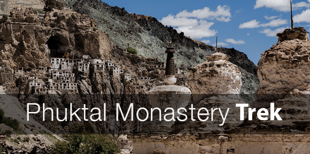 Trek to Phuktal monastery in Zanskar valley, India