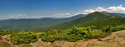 Mt Eisenhower (4780 ft) from Crawford Path. Mt Washington (6288 ft) looms in the right rear.