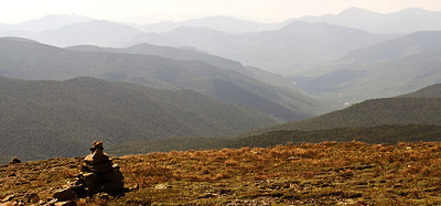 Southeast view from Mt Eisenhower, looking into a portion of the Dry River Wilderness Area.