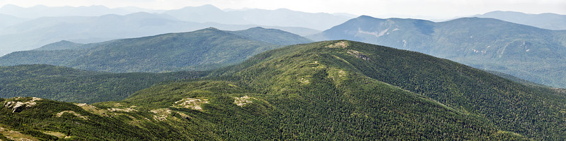 Mount Pierce (4310 ft) as seen from Mt Eisenhower.  Formerly called Mt Clinton, it was renamed in 1913 in honor of Franklin Pierce, the 14th president of the United States (1853–1857) and, to date, the only president from the state of New Hampshire.